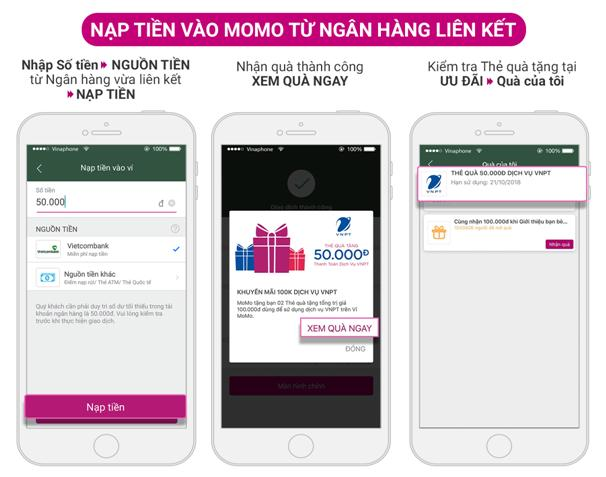 Hướng dẫn sử dụng Thẻ quà tặng, thanh toán dịch vụ VNPT- VinaPhone trên Ví MoMo