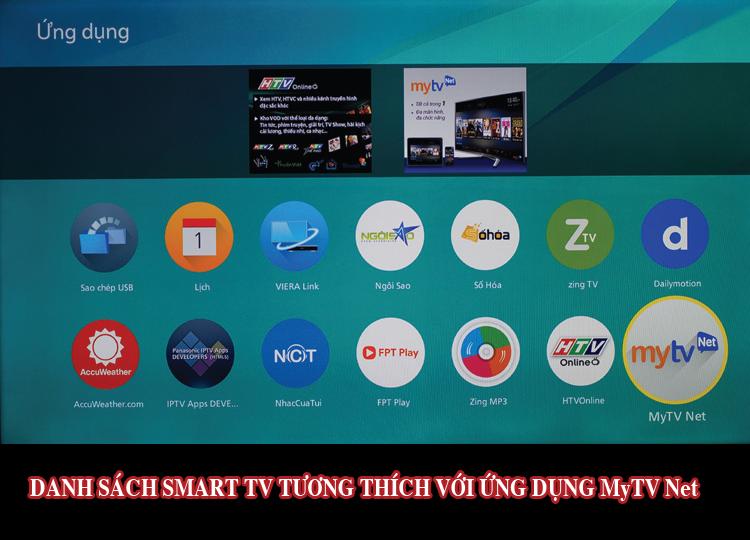 Danh sách Smart Tivi tương thích với App MyTV B2C