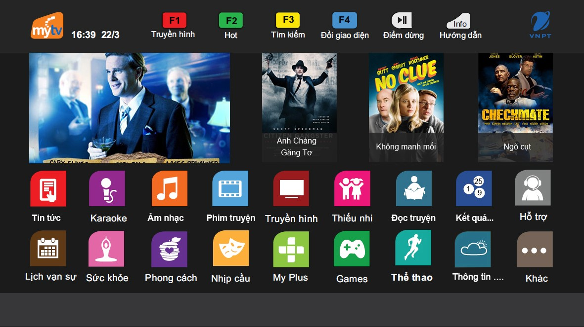 Danh sách kênh truyền hình MyTV thuộc gói Net Flexi
