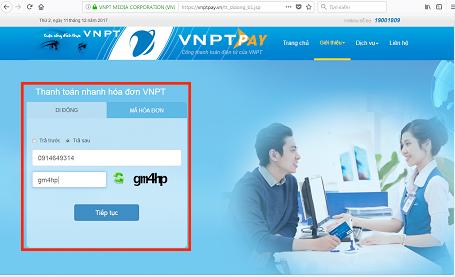 Hướng dẫn khách hàng thanh toán cước dịch vụ VNPT qua website của VNPT Pay