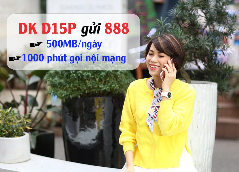 Gói cước D15P VinaPhone chỉ 79k có ngay 15GB + 1000 phút gọi