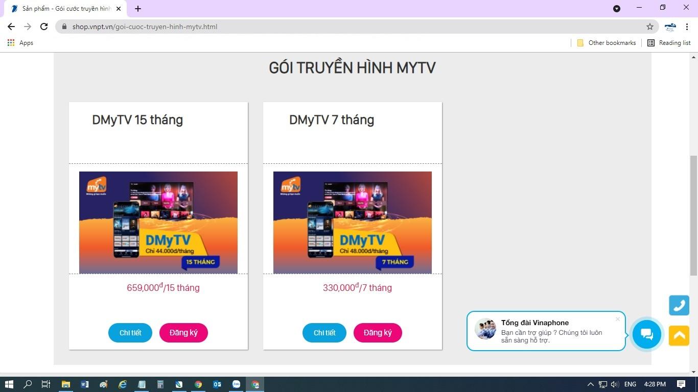 Hướng dẫn cách mua và kích hoạt gói cước truyền hình MyTV OTT