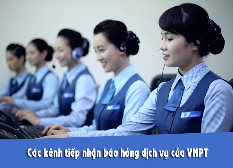 các kênh báo hỏng dịch vụ VNPT